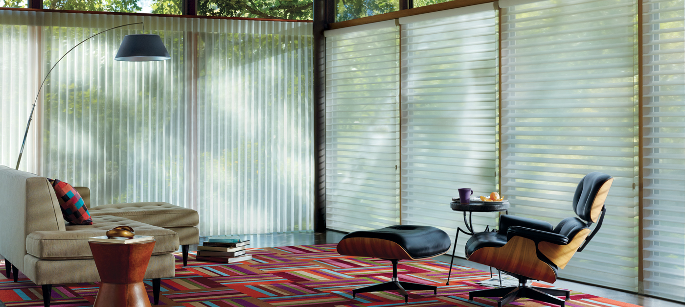 Privacy blinds for windows - Silhouette In White Diamond