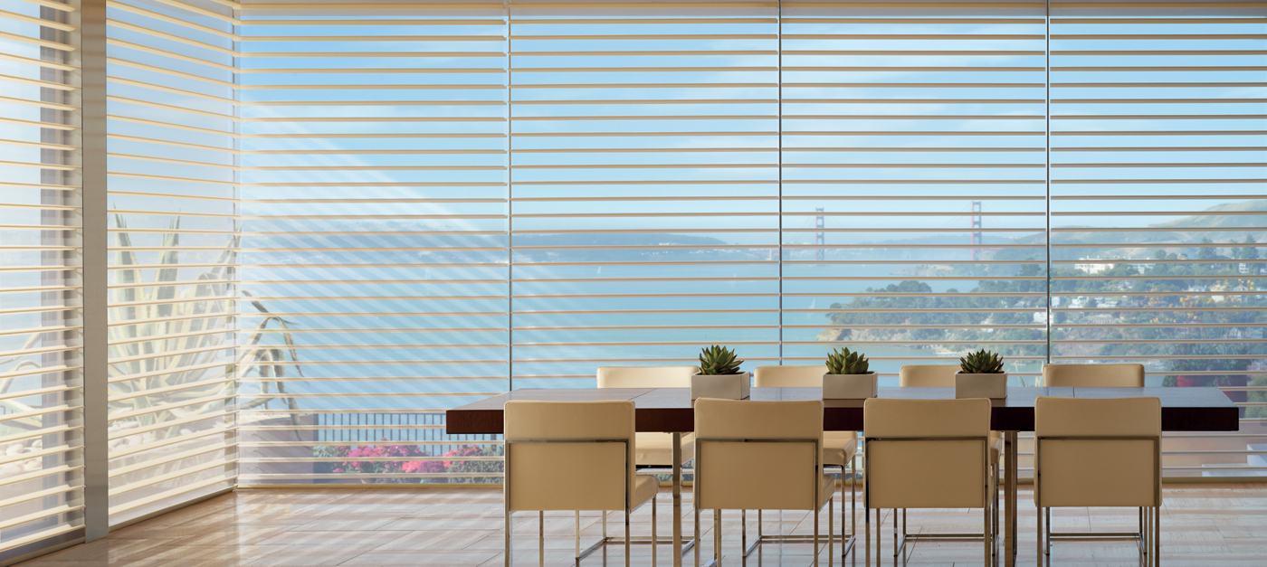 Window shades sheers silhouette hunter douglas canada Motorized window shades cost