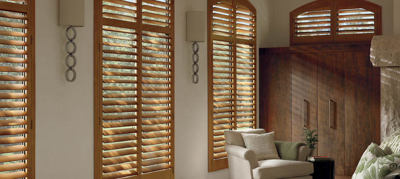 Wood shutters heritance in goldenrod