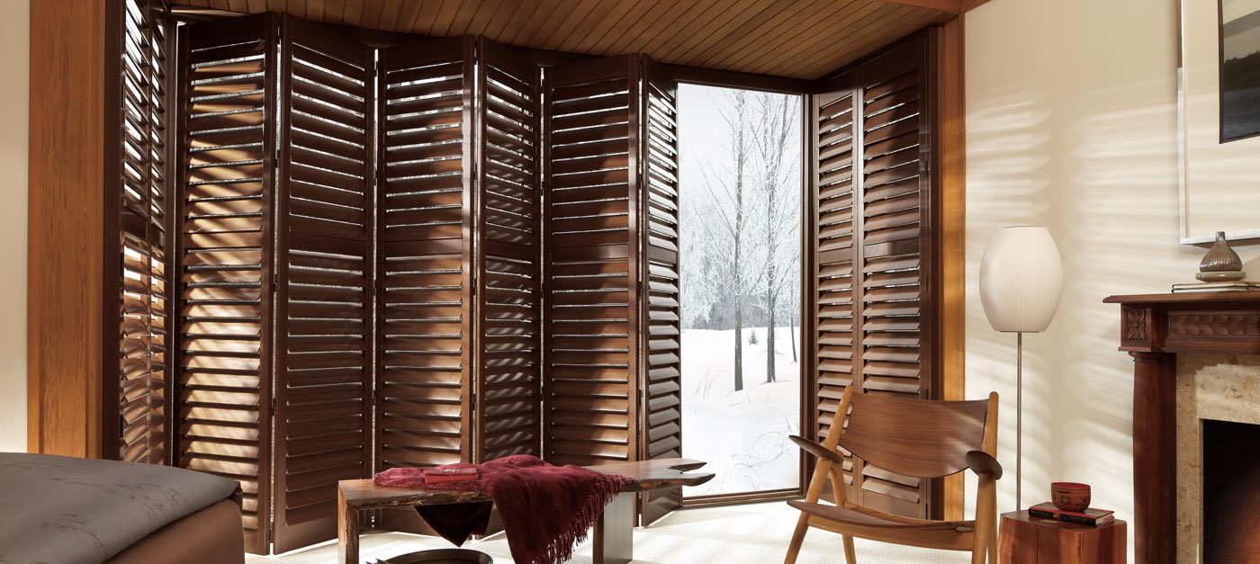 Hybrid shutters newstyle hunter douglas for Shutter styles