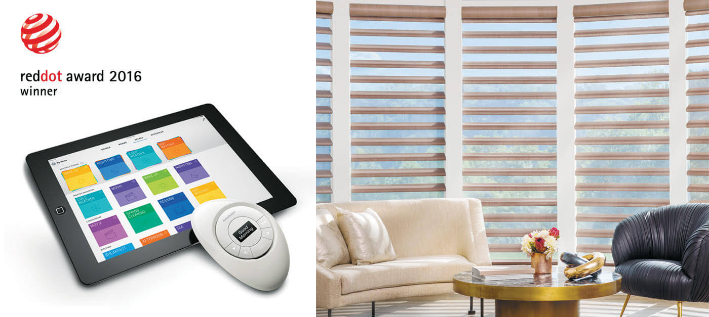 Motorized blinds shades powerview hunter douglas canada for Hunter douglas motorized blinds