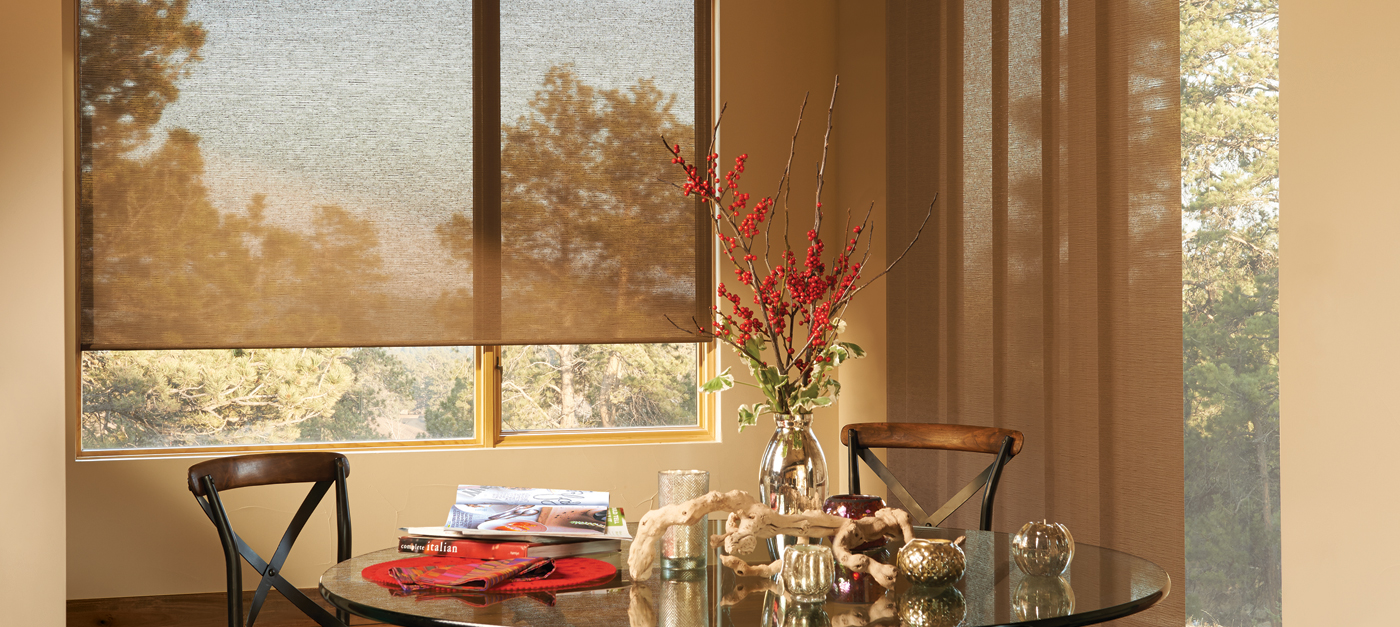 The Alustra Collection of Roller Shades in Chicory