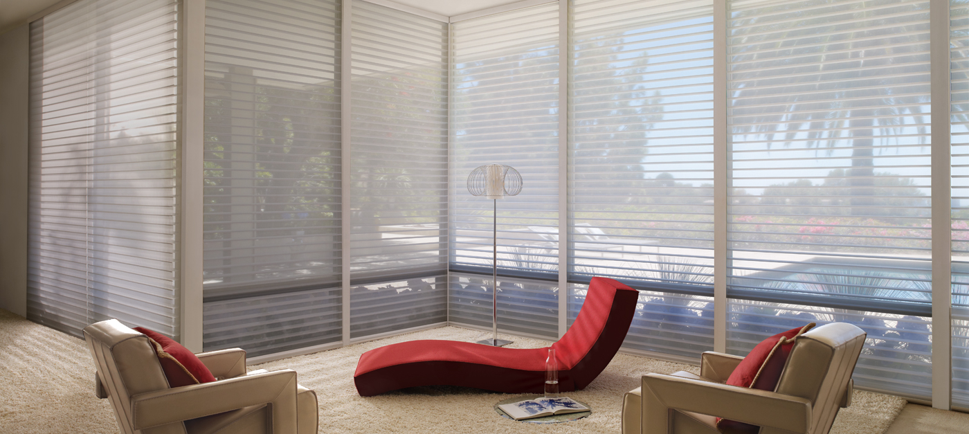 Window shades nantucket hunter douglas canada for Hunter douglas exterior sun shades