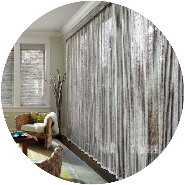 Blinds vertical blinds wood blinds roman shades drapery draperies - Patio Amp Sliding Glass Door Window Treatments Hunter Douglas