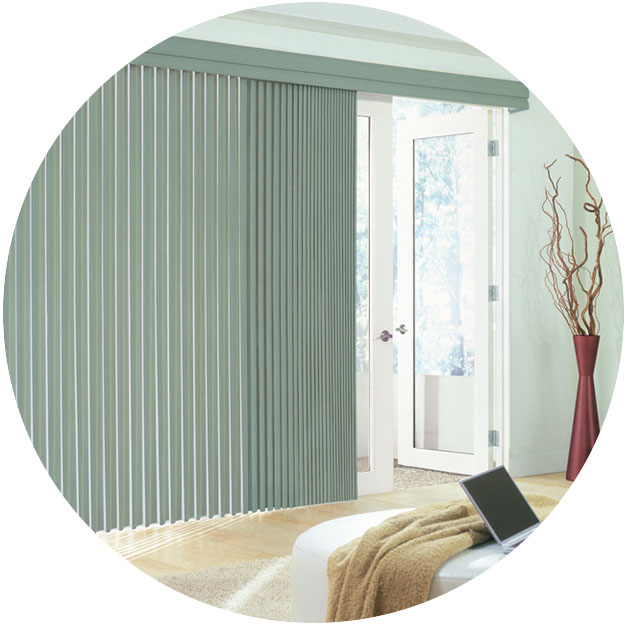 Horizontal Blinds For Sliding Glass Doors Crown Alabaster In - Hunter douglas blinds for patio doors