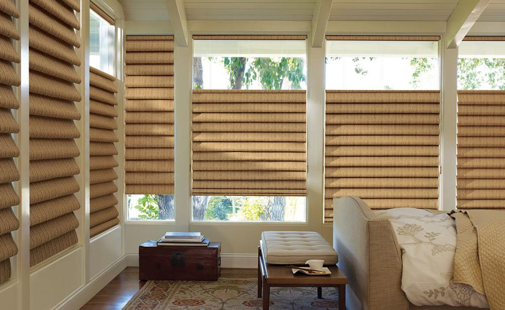 The Alustra® Collection of Vignette® Modern Roman Shades