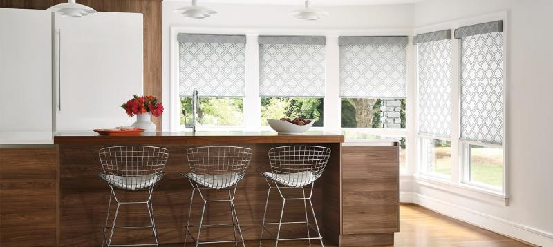 Designer Roller Shades in Silver Dust