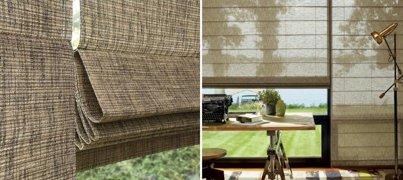 The Alustra Collection of Woven Textures Close-up and Room
