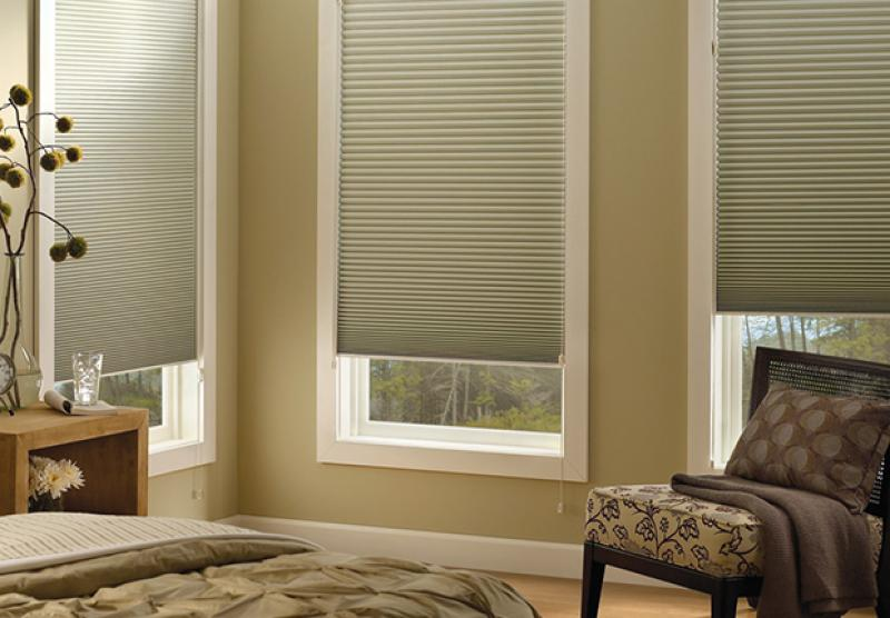 Cellular Honeycomb Shades Cordless Motorized Top Down