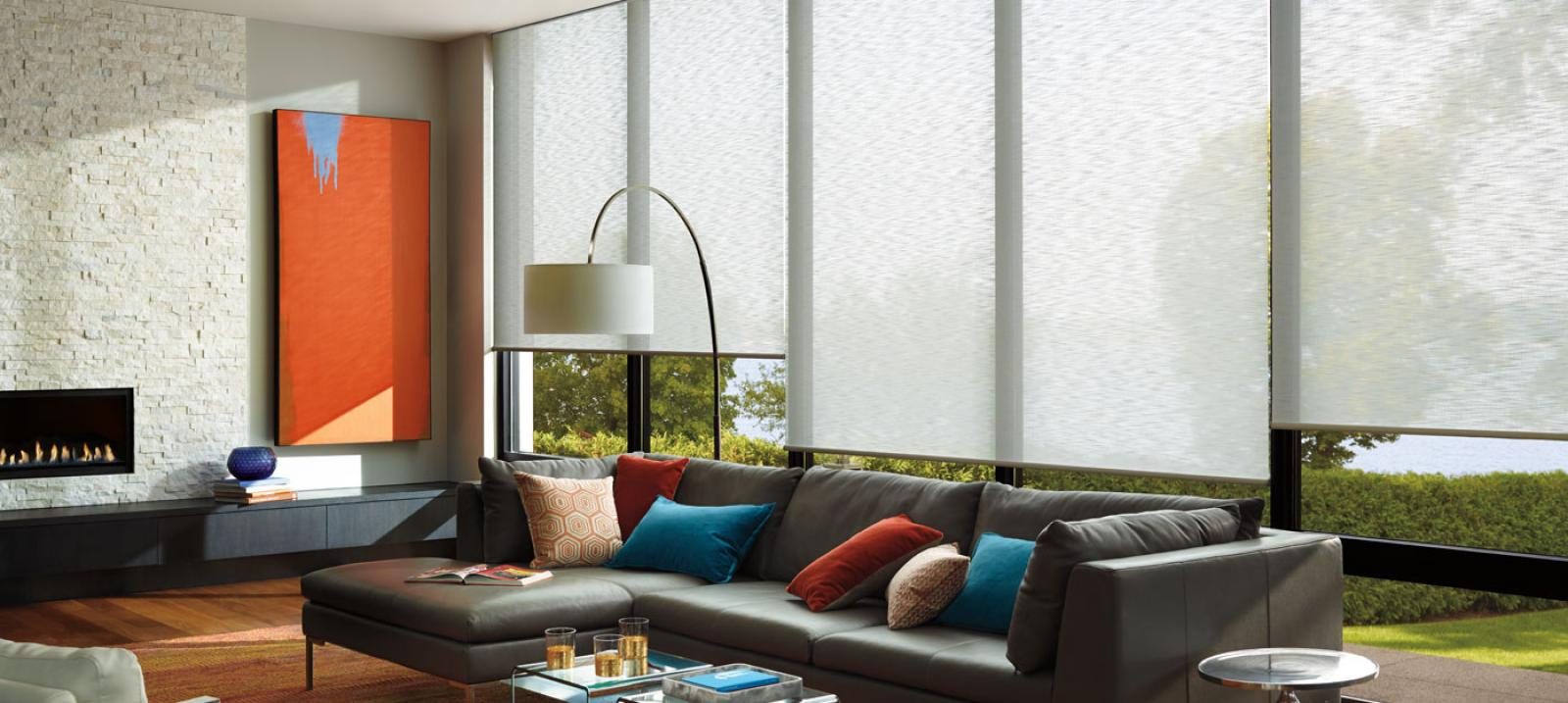 The Alustra Collection of Roller Shades in Pure
